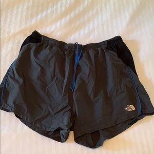 Men's size L North Face running shorts